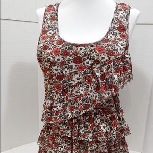MAURICES Floral Lined Tank Top SIZE LARGE